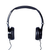 Black Headphones  on a White Background Royalty Free Stock Images