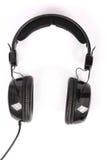 Black headphones white background Stock Photo