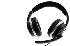 Black headset Royalty Free Stock Images