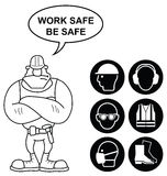 Black Health and Safety Signs Stock Image