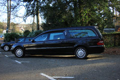 A black hearse Royalty Free Stock Images
