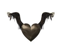 Black heart. Royalty Free Stock Photo