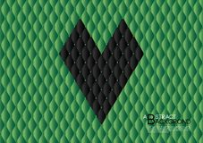 Black heart abstract background vector illustration, Green cover template layout, business flyer, Leather texture. Luxury can be used in annual report cover Royalty Free Stock Images