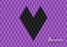 Black heart abstract background vector illustration, Purple cover template layout, business flyer, Leather texture. Luxury can be used in annual report cover Stock Photography
