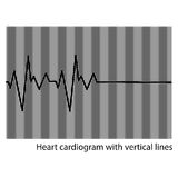 Black heart cardiogram Stock Photo