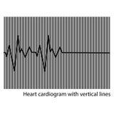 Black heart cardiogram Stock Photo