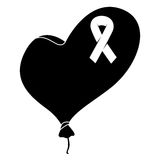 Black heart with female symbol image Stock Photography