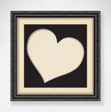 Black heart in frame Royalty Free Stock Images