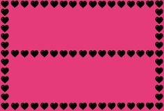 Black Heart Shape on Pink Background. Hearts Dot Design. Can be used for Articles, Printing, Illustration purpose, background,. Pink Background. Hearts Dot vector illustration