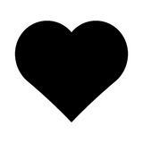 Black Heart Vector Icon. Royalty Free Stock Images