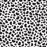 Black heart vector seamless pattern. Royalty Free Stock Image