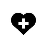 Black heart on white background. Stock Photography