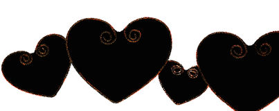 Black hearts Royalty Free Stock Images