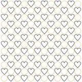 Black hearts and golden circles Stock Image