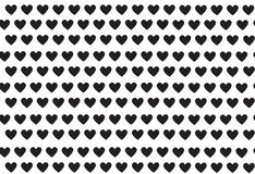 Black hearts, pattern with hearts, vector Royalty Free Stock Images