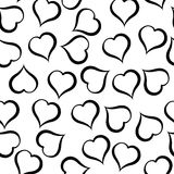 Black hearts pattern on white background. Illustration. Black hearts pattern on white background Vector Illustration
