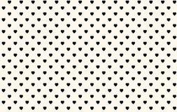 black hearts seamless pattern background vector illustration