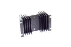 Black heat sink. On the white background Royalty Free Stock Photo