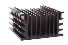 Black Heat Sink Stock Photo