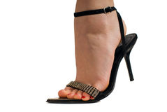 Black heels Stock Photography