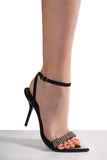 Black heels royalty free stock images