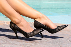 Black Heels Royalty Free Stock Image