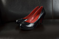 Black heels Royalty Free Stock Photos