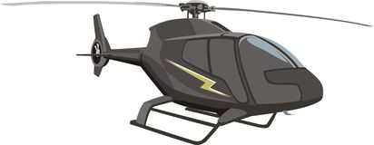 Black helicopter Stock Image
