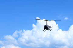 Black helicopter Stock Images