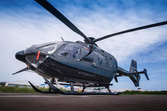 Black helicopter Royalty Free Stock Photo