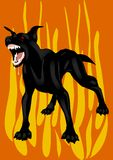 The black hell dog Royalty Free Stock Image