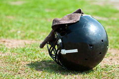 Black helmet Stock Images