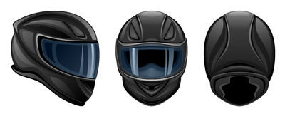 Black helmet Stock Photo