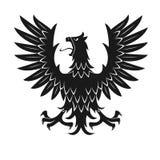 Black heraldic eagle in aggressive posture icon Stock Photos