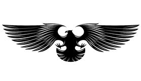 Black heraldic eagle Stock Images