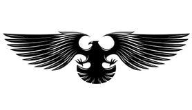 Black heraldic eagle Stock Images