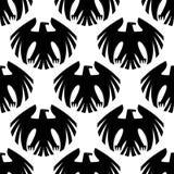 Black heraldic eagles seamless pattern Stock Photos