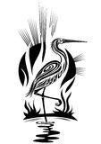 Black heron Royalty Free Stock Photography