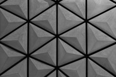 Black hexagon background Royalty Free Stock Photography
