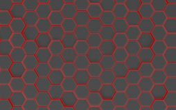 Black Hexagon Background Texture. 3d render. Black Hexagon Metal Background Texture. 3d illustration Stock Image