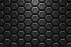 Black hexagon Honeyomb modern technology black abstract 3d  back Stock Images