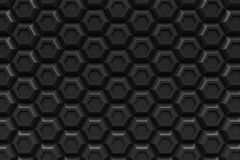 Black hexagon Honeyomb modern technology black abstract 3d  back Royalty Free Stock Photo