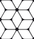 Black hexagon net seamless pattern Stock Photo