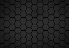 Black hexagon pattern - honeycomb concept. 3D Rendering royalty free illustration
