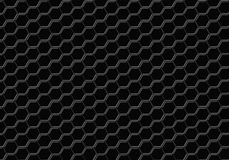 Black hexagon seamless abstract background Stock Image