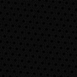 Black hexagon seamless retro vector background Stock Images