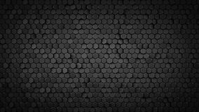 Black hexagonal background abstract 3D render. Black hexagonal background. Computer generated abstract graphics. 3D render Royalty Free Illustration