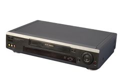 Black Hi-Fi VCR. Isolated, clipping path included royalty free stock photos