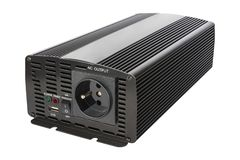 Isolated DC to AC power inverter for car and solar panel. stock photos