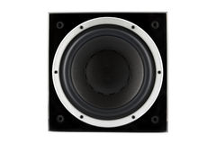 Black high gloss subwoofer Royalty Free Stock Image
